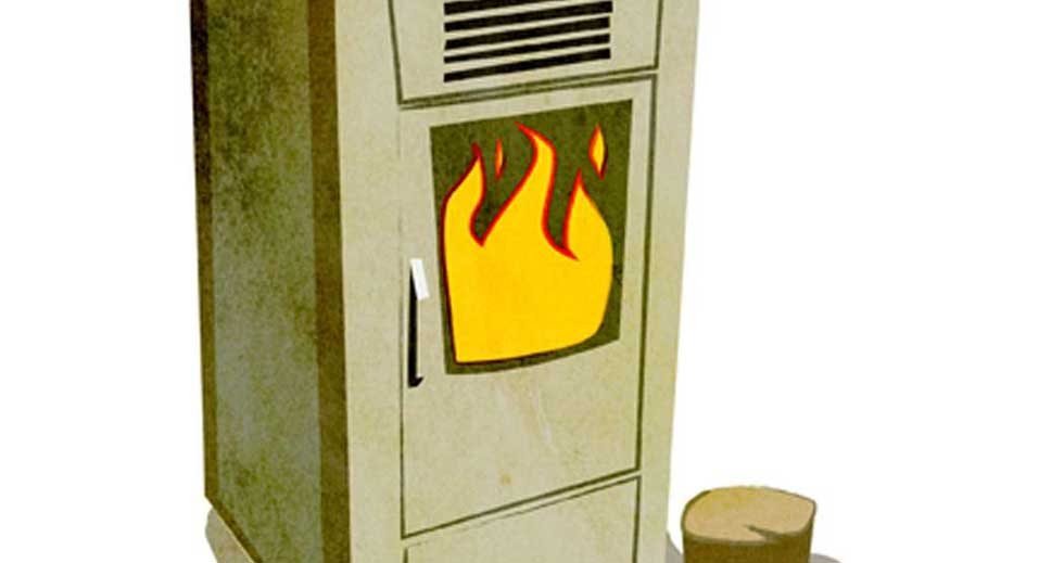 Biomass Boiler Illustration