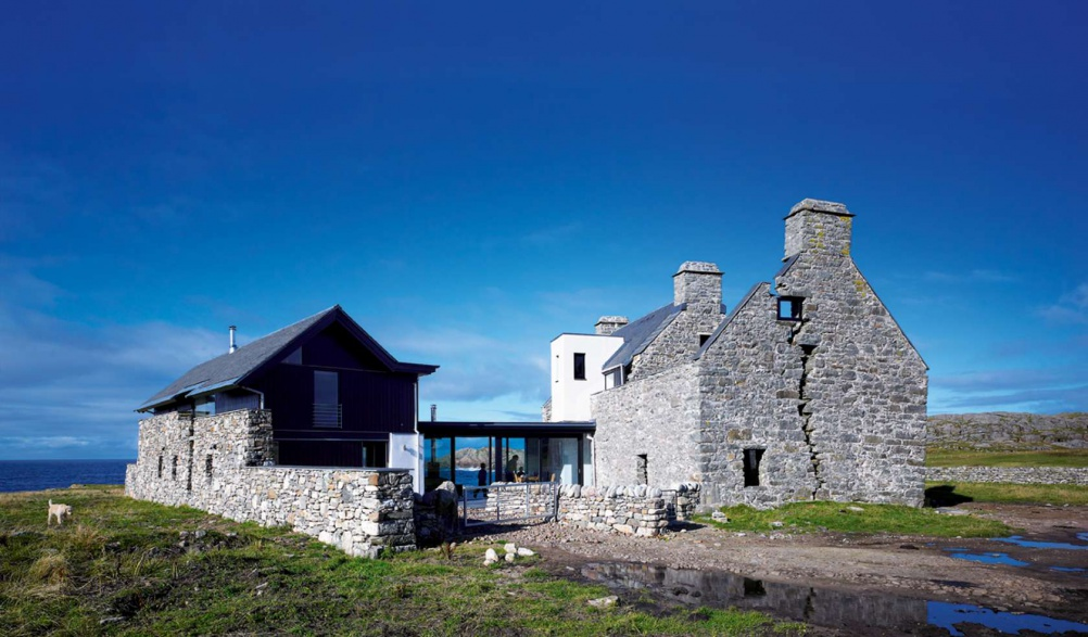 A renovated Georgian ruin in the Hebrides