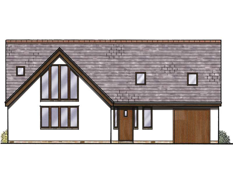 a bungalow with large roofspace and gable end glazing
