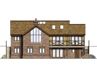 three storey sloping site home