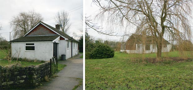 The plot currently houses a Woolaway bungalow ripe for replacement