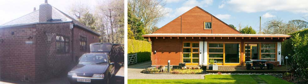The 1930s bungalow before and after renovation