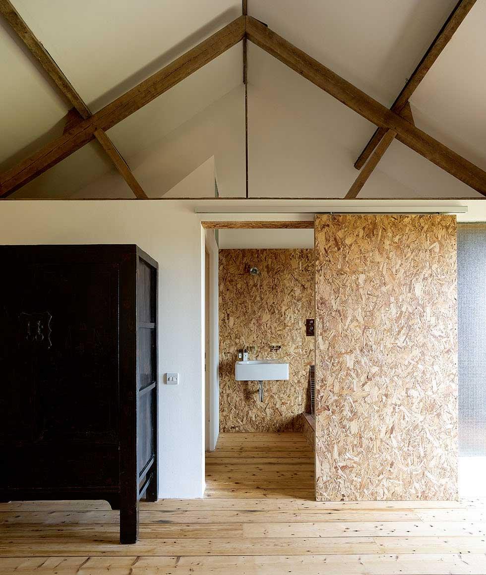The door to the bathroom