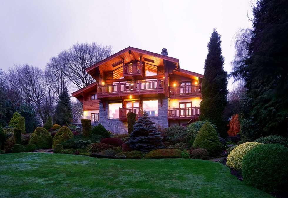 Swiss Chalet style self build - rear elevation