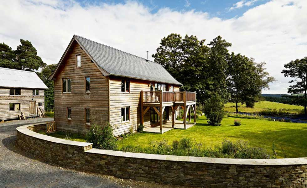 an oak frame home in the countryside self built with planning permission