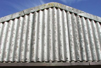 Dealing with asbestos - Corrugated tin roofing