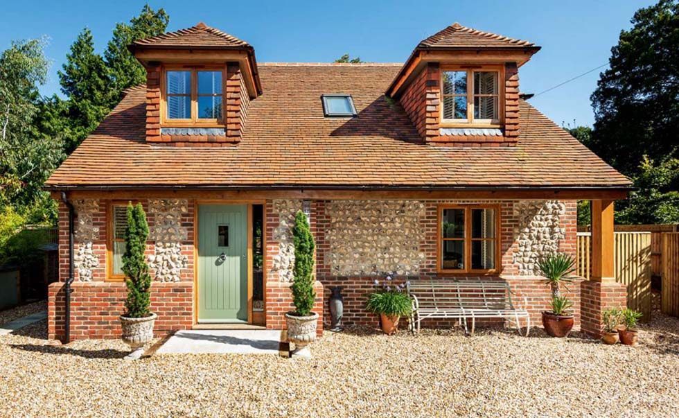 Low Cost Self Build eco Cottage Elevation