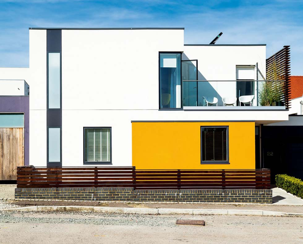 A modern exterior