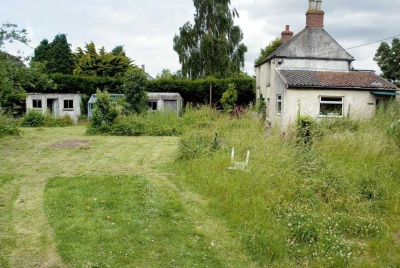 potential building plot with planning permission on the site and garden of an old house