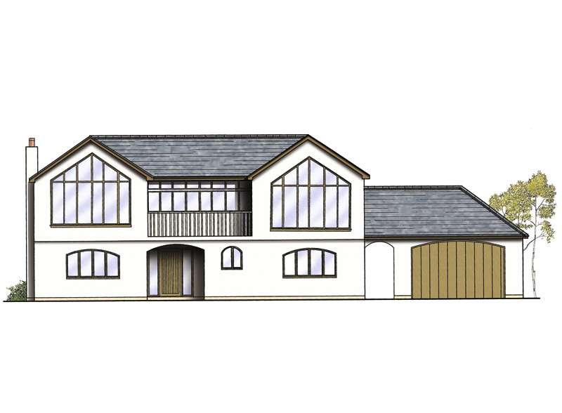 a drawing of a rendered upside down home