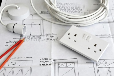 rewiring plans for a renovation with sockets and light fitting