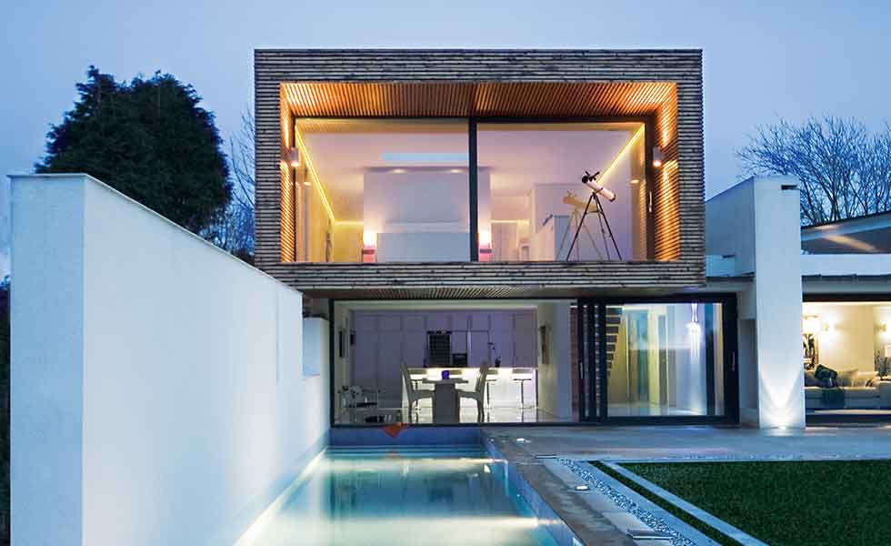 Hyde and Hyde modern home with swimming pool