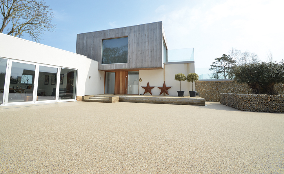 Clearstone® resin bound surfacing – creating an impressive entrance for the art house in Burnham Market, Norfolk