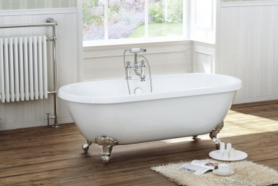 Roma Traditional Double Ended Roll Top Bath with Ball and Claw Feet Product No. FSB006