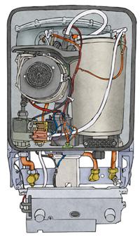 Inside a boiler
