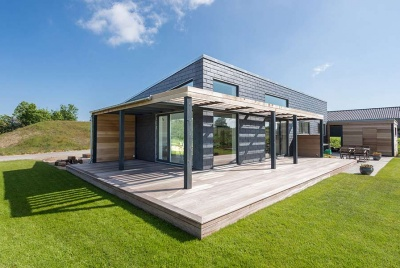 cupa natural slate exterior canopy building house architecture