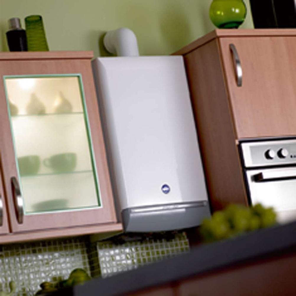 modern boiler in a kitchen