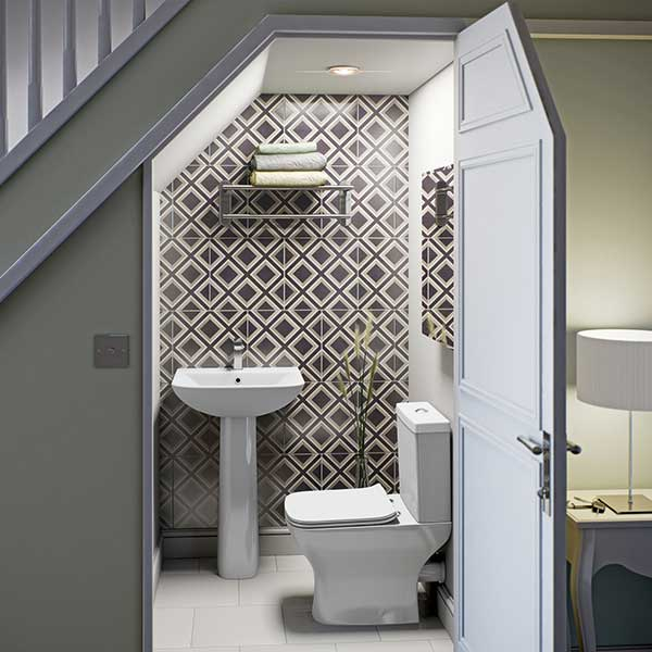 small-wc-with-bold-tiles & Small Bathroom Guide | Homebuilding \u0026 Renovating