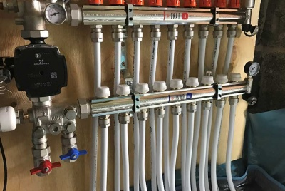 Black underfloor heating controls