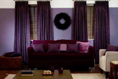 Deep Purple Thermal Curtains