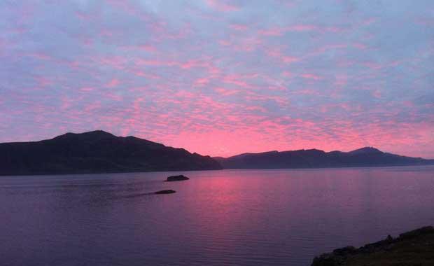 Sunset on the Isle of Raasay