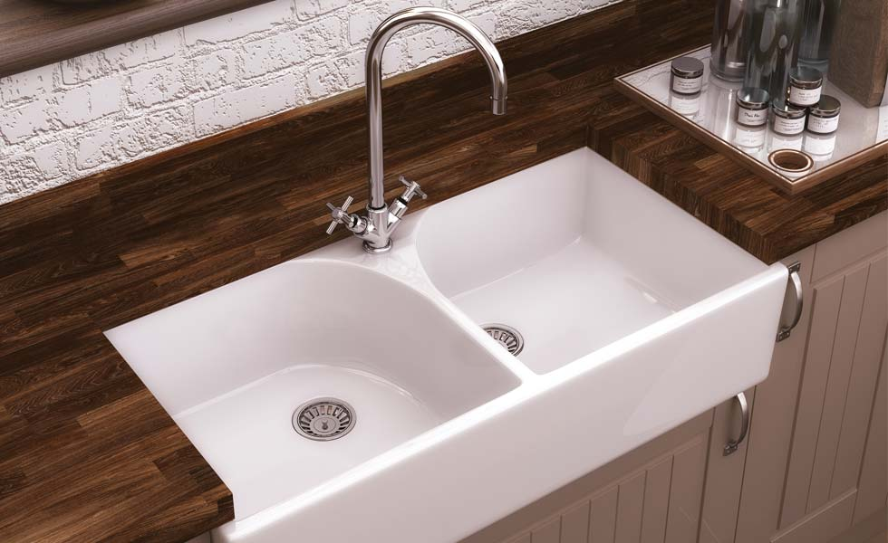The Premier Athlone Butler Sink Is Made From High Grade White Ceramic And  Comes In A Double Bowl Design, Creating A Versatile Sink Thatu0027s Ideally  Suited For ...