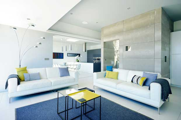 Modern open plan living area