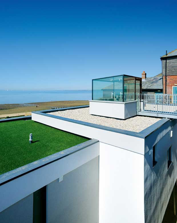 The house has stunning views out on to the ocean