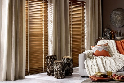 American Oak Wooden Blinds