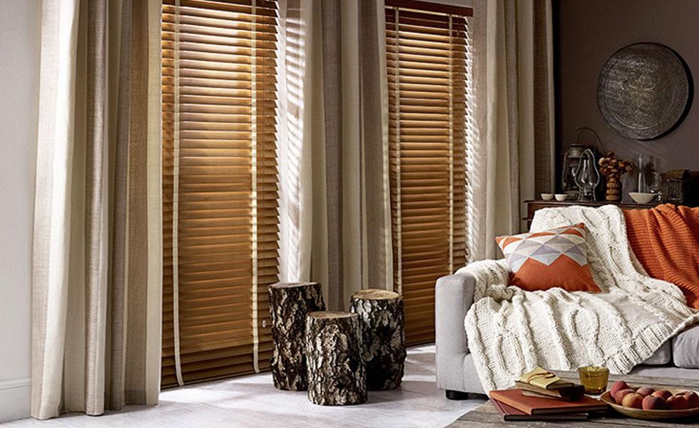 American Oak Wooden Blinds