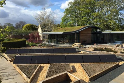 renew green energy A bespoke PV array built into raised bed sleepers