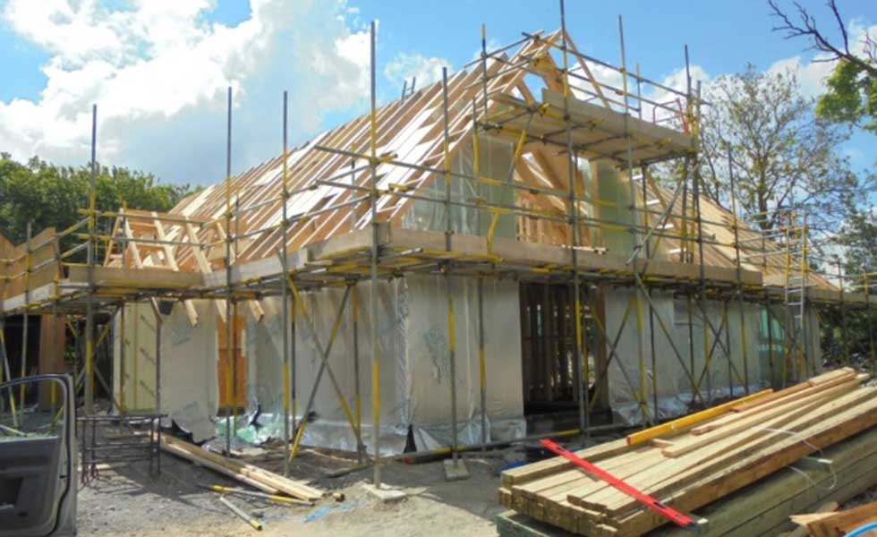 timber frame self build home building built