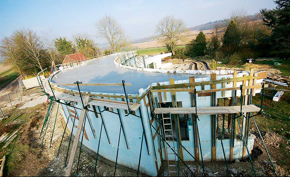 ICF construction used to build a new home