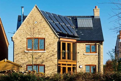 CIL home with solar panels