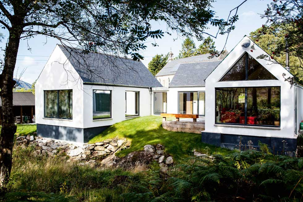 A self built single storey house in the Scottish Highlands