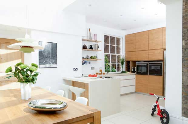 orangery style kitchen with hardwearing surfaces