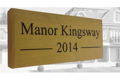manor kingsway signage