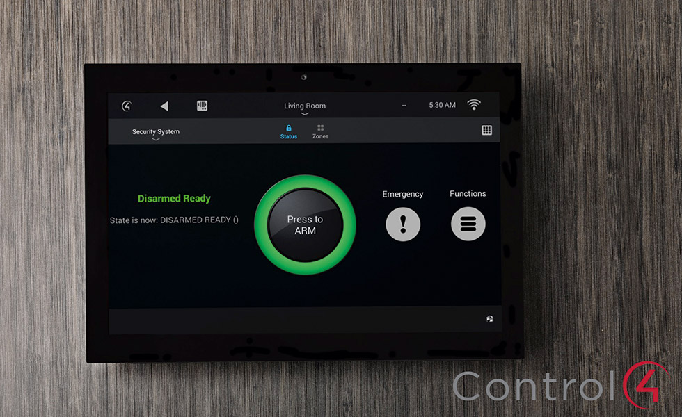Control4 Lifestyle in wall touchscreen