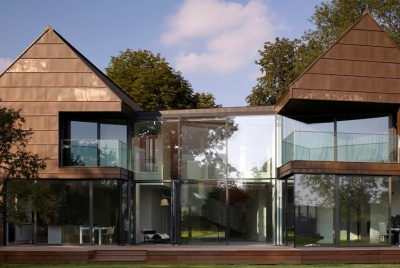 burrell mistry architectural designers bronze house exterior