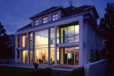 home security in a modern home with lots of glazing
