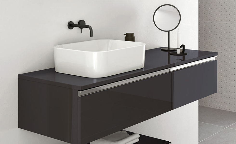 The Self Countertop ceramic basin