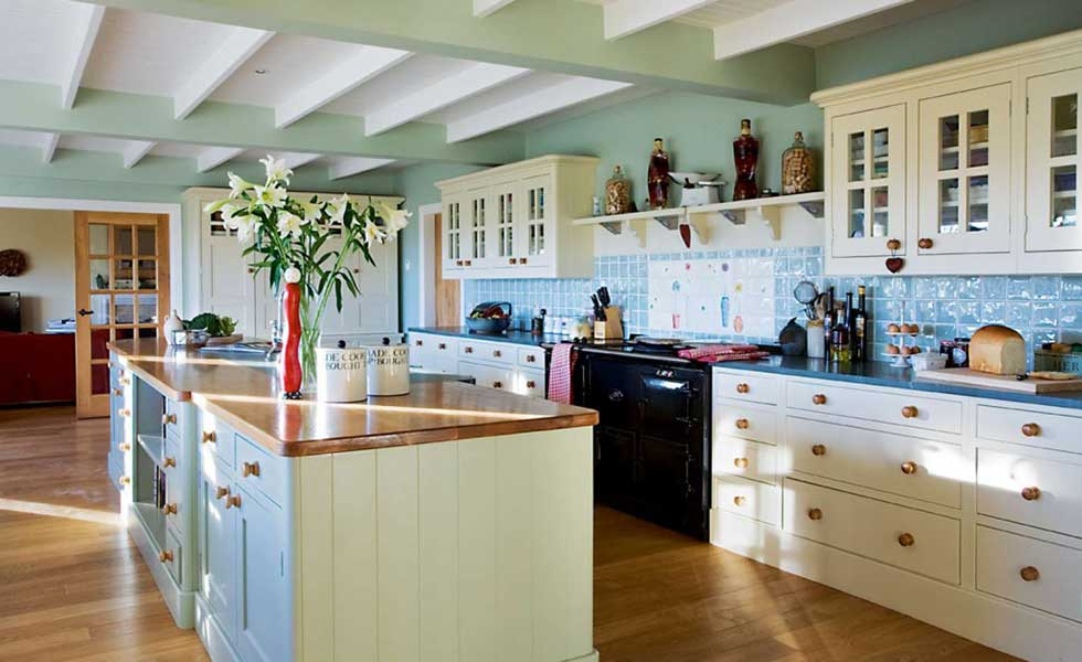 country style kitchen in a ranch style self build home