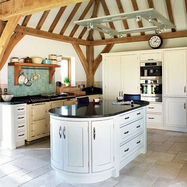 Original Structure: Vaults And Beams · Vaulted Ceiling In Kitchen Of An Oak  Frame Home