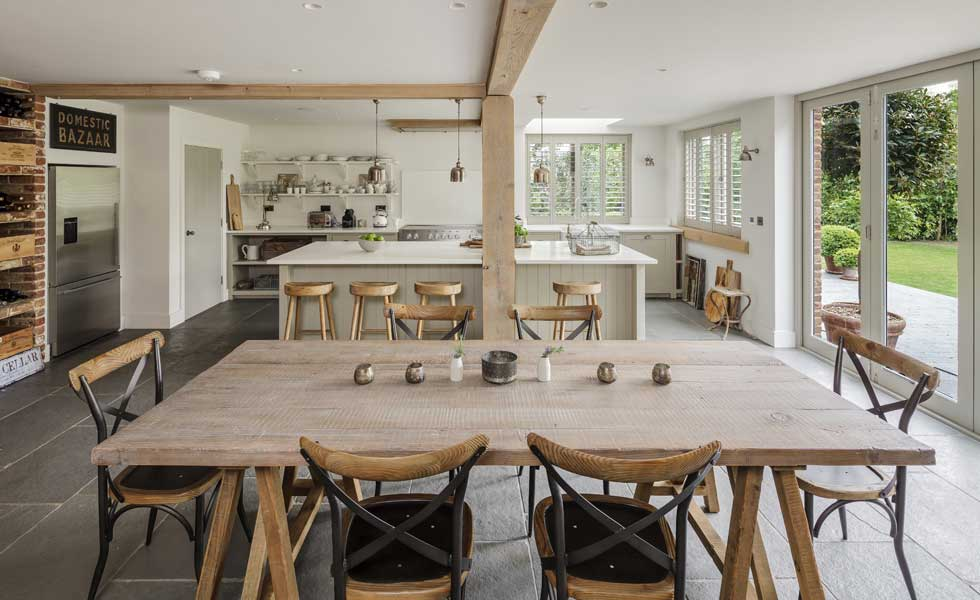 open-plan-kitchen-diner-with-no-wall-units