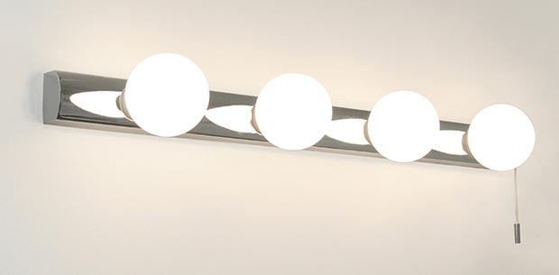 The Caberet 4 Light bathroom wall light from Heal's