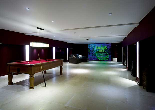 A games and cinema room
