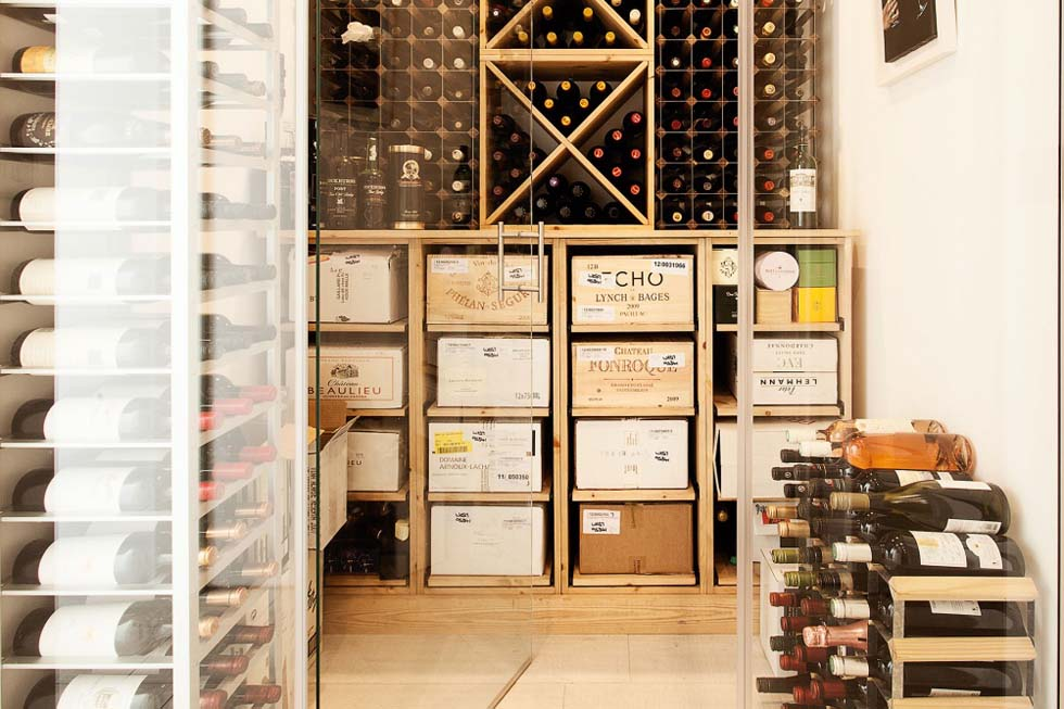 wine cellar in a converted Victorian home