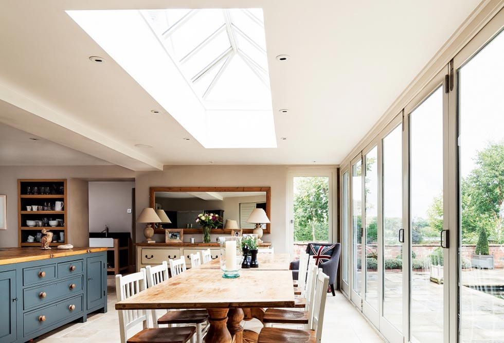 A Roof Lantern In The Kitchen Of Converted Coach House