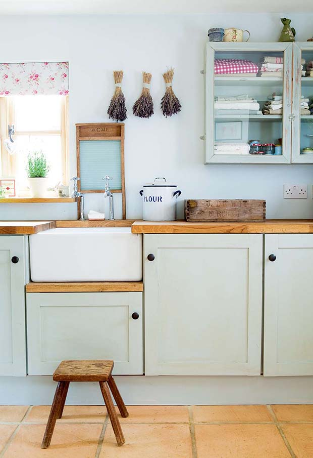 belfast sink in a farmhouse style kitchen