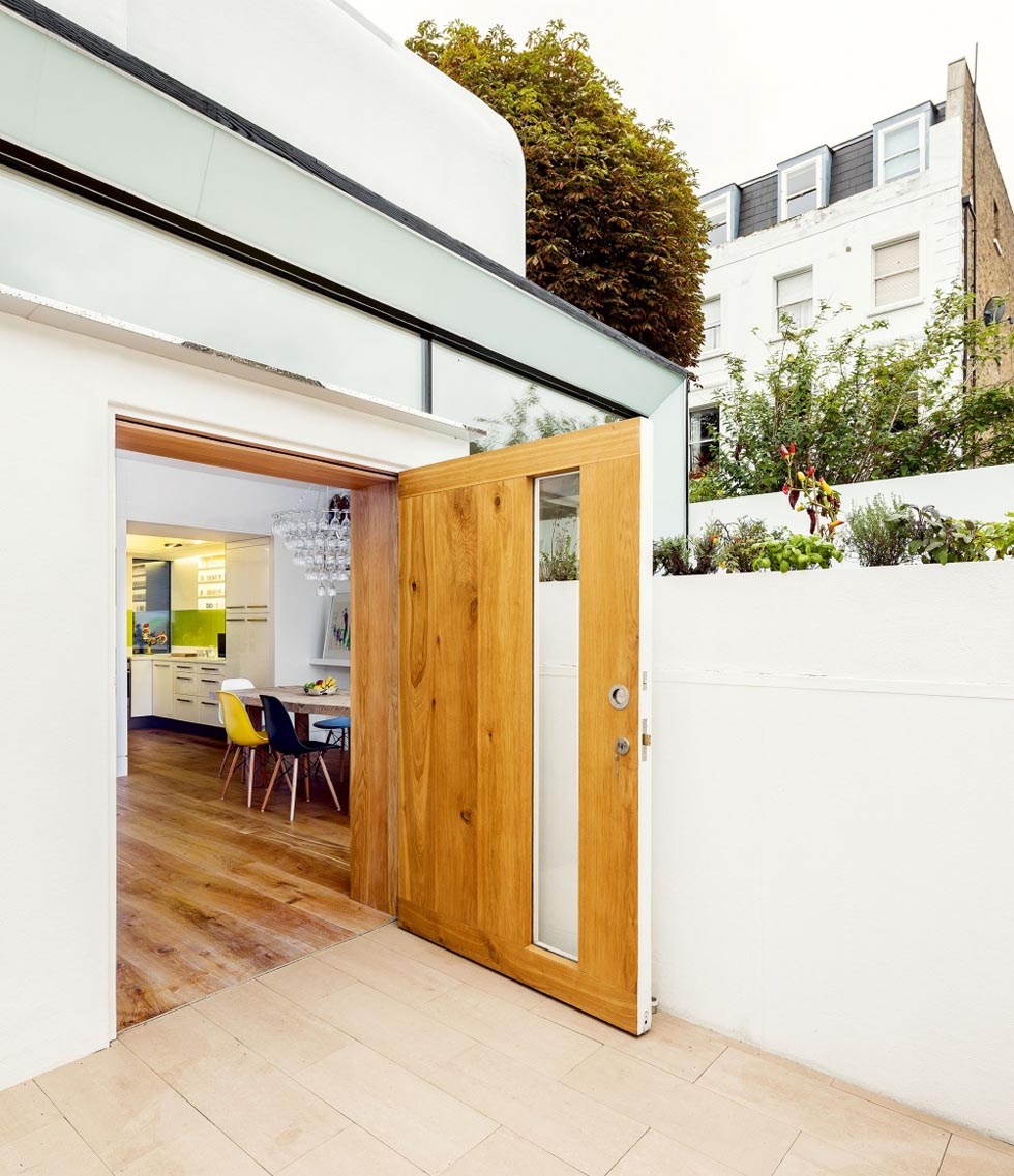 A modern wide entrance door